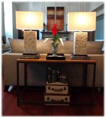 sofa console table. Sofa Console Table With Lamps Y