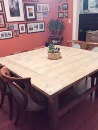 how to build a diy square farmhouse table plans farmhouse table plansfarmhouse furniturediy