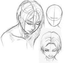 Resultado de imagen para guias para el dibujo de rostro de mujer realista de medio perfil paso a paso lapiz