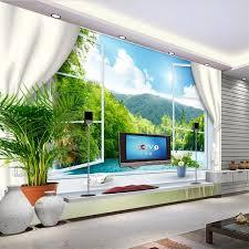 Beibehang Nach Wandbild 3d Wallpaper Fenster Meer Europa Papel De