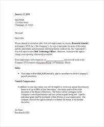 Hiring Letter Samples Sample Employment Offer Letter 8 Documents In Pdf Word