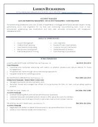 Manager Job Medium To Large Size Of Account Description Resume ...
