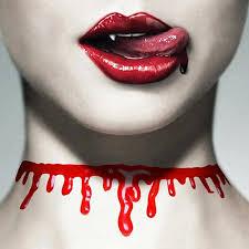 "<b>Украшение</b> ожерелье на <b>шею</b> ""потеки <b>крови</b>"" на хеллоуин ..."