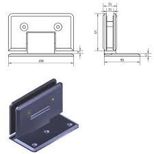 1 4 adjule heavy duty frameless shower door hinge