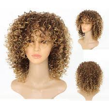las brown blonde short wavy hair wigs women afro natural curly wig uk
