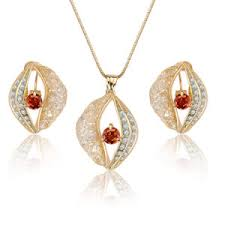 china pendant and earring whole imitation jewelry set