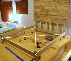 king bed frame diy how to build a custom king bed frame via squaring it up king bed frame diy