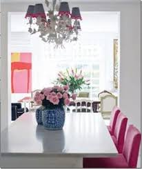pink chairs for breakfast room