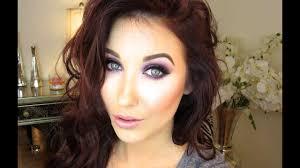purple glitter makeup tutorial jaclyn hill