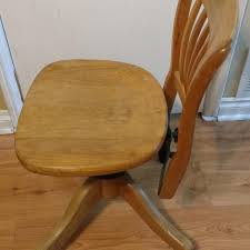 Vintage wooden office chair Looking Best Vintage Oak Office Chair By H Krug Co Ltd For Sale In Selkirk Manitoba For 2019 Home Decorators Best Vintage Oak Office Chair By H Krug Co Ltd For Sale In