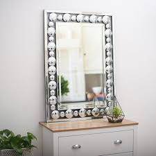 best large silver mirror