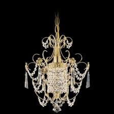 schonbek century 1 light w gold mini chandelier