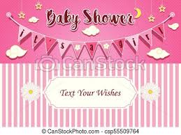 baby girl invite baby girl shower invitation card design template