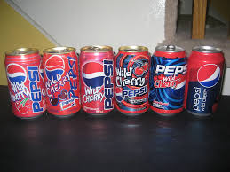 Pepsi Can Designs Cherry Pepsi A Line Up Of Past Cherry Pepsi Cans Notice T