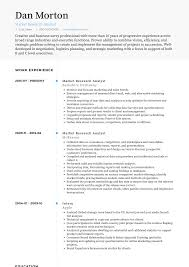 Research Resume Samples Research Analyst Resume Samples And Templates Visualcv
