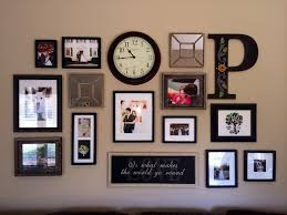wall with collage photo frames