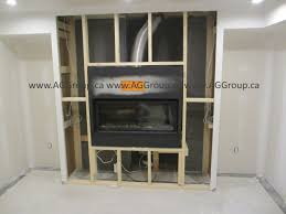 the napoleon gas fireplace has been roughed in and now i will install permabase cement board around the fireplace for future installation for the stone