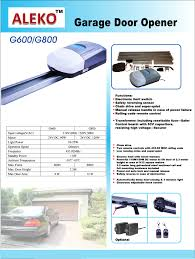 designed for garage doors up to 7 5ft height for a maximum door area of 108sqft comes with rail motor and hardware rolling code remote controls