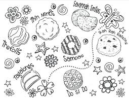 Girl Scout Cookies Coloring Pages Scout Coloring Pages Daisy Girl