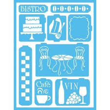 Americana Bistro <b>Self</b>-Adhesive Stencil-AGS202-A - The Home Depot