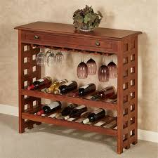 Wine storage table Console Table Colborn Wine Rack Table Regal Walnut Touch Of Class Colborn Mission Style Wine Rack Table