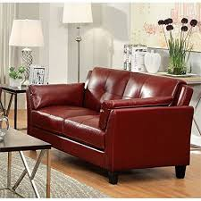 furniture of america living room collections. furniture of america tonia leather tufted loveseat in red features: finish: materials: wood, leatherette, foam modern design meets traditional comfort living room collections