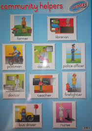 Our Community Helpers Chart Sucezz Educational Wall Chart Poster Community Helpers