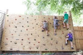 backyard climbing wall safety