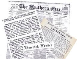 Old West Newspaper Template How To Find Free Irish Newspaper Archives For Family History