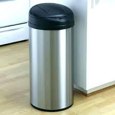 black kitchen garbage can stainless steel