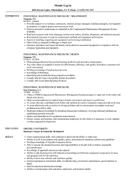 Industrial Maintenance Resume Examples Industrial Maintenance Mechanic Resume Samples Velvet Jobs 19