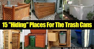 15 best ideas for hiding trash cans