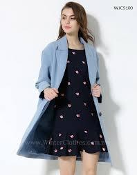 women plus size winter coat light blue rm229 00 rm179 00
