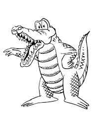 Disegno Di Alligatore Dei Cartoni Animati Da Colorare Disegni Da