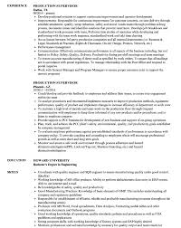 Fearsome Production Supervisor Resume Format Templates Cv Media ...