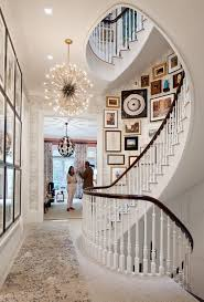 chic spiral staircase with gallery wall 8 chic ways to decorate your staircase