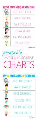 Printable Morning Routine Charts Bitz Giggles
