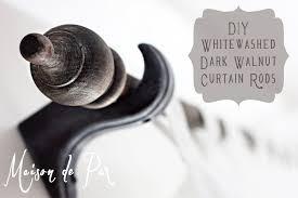 Diy Curtain Rods Whitewashed Curtain Rod Tutorial Maison De Pax