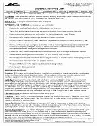 shipping and receiving resume. 52 Unique Receiving Clerk Resume Sample Awesome Resume Example