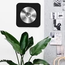 cd player speaker new wall mounted bluetooth cd player speaker with remote control black eu