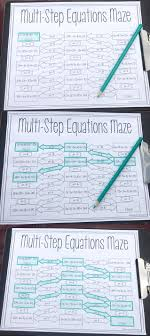 this was the perfect way for my 8th grade math and algebra 1 students to practice multi step equations my students loved practicing solving equation by