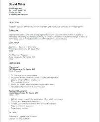 Pharmacists Resumes Resume Of Pharmacist Pharmacy Resume Pharmacist Retail Putasgae Info