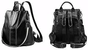 Ladies <b>Antitheft Backpack</b>, DRENECO Women Leather <b>Backpack</b> ...