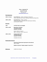 High School Student Resume Objective Fresh Part Time Jobs For