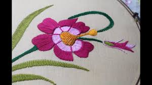 Pillow Case Hand Embroidery Designs Hand Embroidery Designs Beautiful Flower Design For