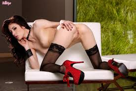 Red heels solo stockings