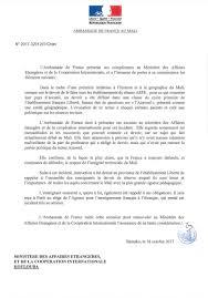 Malijet Les Excuses De L Ambassade De France Au Mali Suite Au Devoir