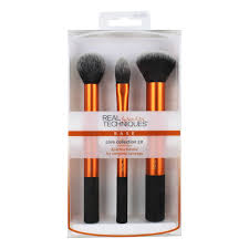 real techniques flawless core collection makeup brush set with 2 in 1 case stand 4 count walmart