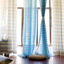 custom made geometric curtains multi color wave pattern window curtains sheer curtain for living room bedroom