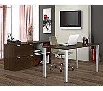 staples home office desks. bestar contempo collection tuxedo grey u0026 sandstone staples home office desks d